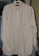 MEN'S NAUTICA CASUAL SHIRT - SIZE LARGE - LONG SLEEVES - EXCELLENT CONDTION!