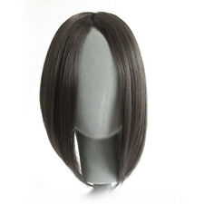 Womens Girl Straight Long Side Fringe Bangs Clip In Hair Extensions Piece