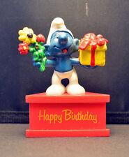 Smurf-A-Gram Smurf On Stand HAPPY BIRTHDAY SCHLEIGH PEYO
