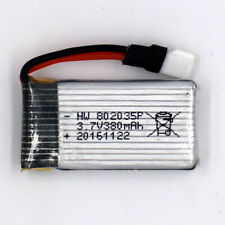 3.7V 380mAh 30C 802035 1S Li-Po Helicopter Battery for Remote RC 51005 Connector