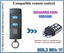 Hormann HSE2 compatible remote control 868,3MHz Clone (NOT MADE BY Hörmann!!!)