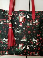 Disney Dooney & Bourke Woodland Christmas Holiday 2017 Mickey Minnie Tote purse