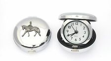 Horse Dressage Design Nickle Plated Desktop Alarm Clock Horse Riding GIft