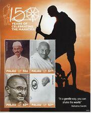More details for palau mahatma gandhi stamps 2019 mnh famous people historical figures 4v m/s
