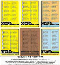 2012-13 OPC O-Pee-Chee Complete Checklist Set (6)