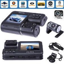 Dual Lens Full HD 1080P Car DVR Dash Camera Video Camera Recorder Cam GPS