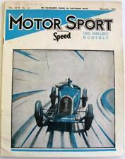 MOTOR SPORT/ Speed Magazine Vol 17 No 12 Dec 1941 Shelsley Walsh Parry Thomas