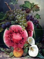 fruits and calla flowers Kitchen Bathroom Wall Backsplash Ceramic 12.75x17