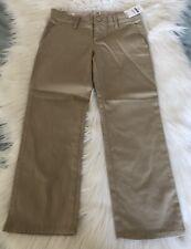 Gap Kids Girls Uniform Skinny Chinos Size 5 Wicker Khakis Adjustable Waist New
