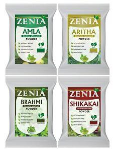 Zenia Herbal Natural Hair Care Kit 100g Amla, Brahmi, Shikakai, Aritha Powder