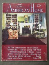 VINTAGE AMERICAN HOME MAGAZINE OCTOBER 1938