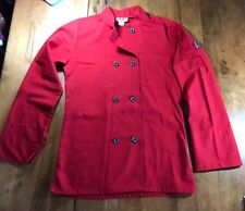 Chefwear Unisex Size Xs 8-12 Red Double-Breasted Chef Jacket Coat