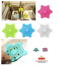 1 x Silicone Sink Strainer Bathtub Hair Catcher Stopper Shower Drain Hole STAR