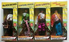 "2005 Retro Mego PIRATES Complete 8"" Action Figure Lot of 4 MIB BLACK BEARD+++"