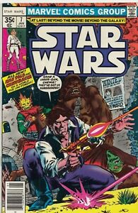 STAR WARS #7 1977 FIRST PRINT GRADED FN MARVEL COMICS GROUP