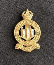 WW1 Northumberland Hussars x 100% Original Cap Badge