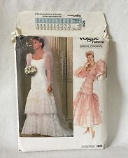 Vogue 1826 Wedding Dress Pattern 14 UNCUT  Bridal Original