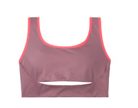 Victoria Secret Sports Bra Small Pink Authentic Keyhole Front Minimal Support