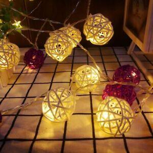 Led Ball Lights String Batter Fairy Garland Christmas Wedding Holiday Decoration