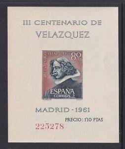 Spain Scott 983a/985a VF MNH 1961 Diego Velazquez Painter Souvenir Sheets