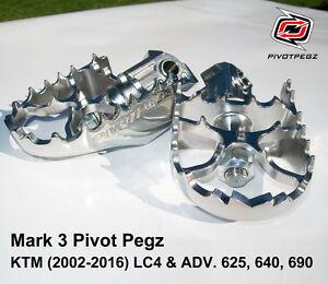 NEW PIVOT PEGZ for KTM LC4 & ADV & SM 625, 640, 690 (2002-2015, 2016) + BONUS
