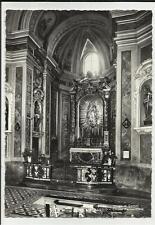 cartolina bianco e nero menaggio  como interno chiesa parrocchiale non comune