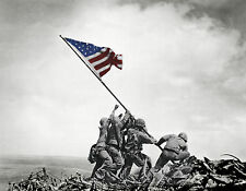 United States Marines Raising Flag Iwo Jima Poster Patriotic World War Ii Battle