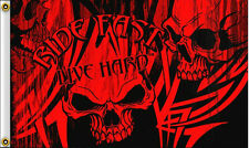 NEW 3x5 RIDE FAST LIVE HARD MOTORCYCLE HOT LEATHERS BIKER FLAG