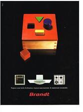 PUBLICITE ADVERTISING  2003   BRANDT éléctroménager  four plaques hotte