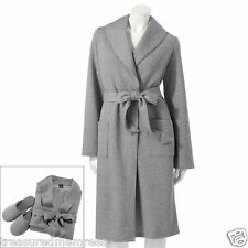 2 PC. Apt. 9 Sleepwear Robe & Slippers Set ~ Size Large ~ New With Tags $50