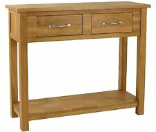 Portland solid oak furniture console hallway table