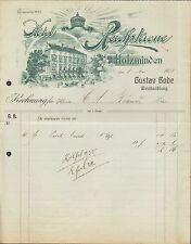 HOLZMINDEN, Rechnung 1908, Hotel Reichskrone, Gustav Bode, Weinhandlung