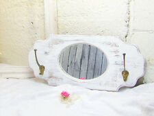 Vintage Entry Mirror/Mirror Hall Tree/Coat Rack Mirror/Bathroom Mirror/ Shabby M