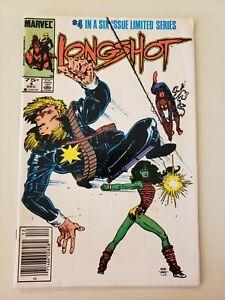 """Longshot # 4. Marvel. Dec 1985. VF+ 8.5 or UP. KEY!  """"1st Full App. Mojo"""". Adams"""