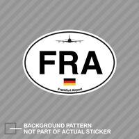 Frankfurt Airport Euro Oval Sticker Decal Vinyl FRA Germany