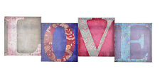 Shabby Chic Vintage Style - Canvas Love Colours Word - NEW