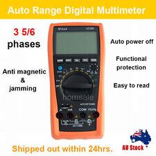 Digital VC99 Multimeter Auto Range AC DC Volt Temp Meter Resistance + Battery AU