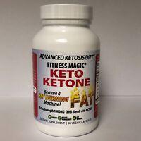 Keto Ketone 90 Veg-Caps - Become a Fat Burning Machine - 1500mg BHB + MCT Oil