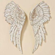 Wanddeko Engelsflügel 2 Stück Antik Weiß 55x22cm Flügel Engel Dekoration Deko