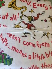 New Pottery Barn Teen GRINCH Word of WHOVILLE Full SHEETS flannel pbteen Dr SEUS