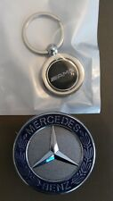 Mercedes Benz Bonnet Badge & AMG style Key ring AMG C, E, S Class C180 C200 57mm