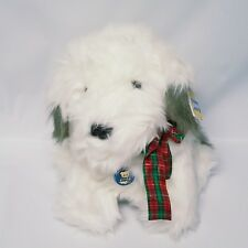 Vintage 1987 R Dakin Dimples Gray White Shaggy Dog Puppy Plush with Tags 31-2850
