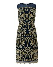 Joanna Hope Embroidered Dress Navy Size 20