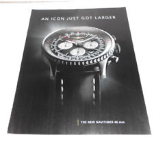 2014 Near Mint Print ad Poster Breitling Boutique Navtimer 46 mm Watch Icon .
