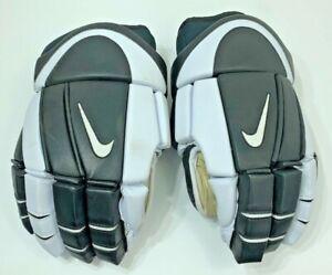 "90s Nike Hockey Gloves Bolero 14"" Black White Rare Vintage"
