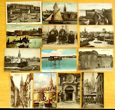 13 Vintage Postcards SAINT MALO Brittany France survivors Ship Wreck HILDA 1905
