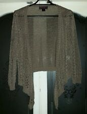 CKM Choc Brown cable knit type tye front Cardigan Size M