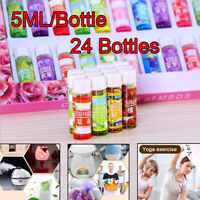 24 Bottle/Set Essential Oil 100% Pure Natural Therapeutic Grade Oils Lot 5 ml