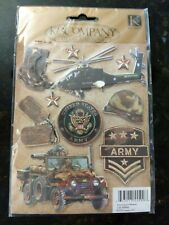 Unique Military Dimensional Army Stickers K & Company Jeep Boots Helicopter Patc