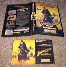 NO GAME! Indiana Jones And The Last Crusade Art Sleeve + Manual Sega Mega Drive